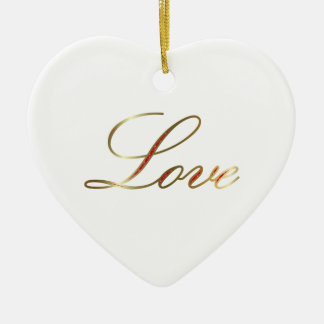 Christmas Love Ceramic Ornament