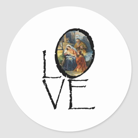 Christmas Love Classic Round Sticker