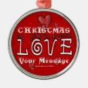 Christmas Love - Customize - Ornament