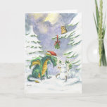 """Christmas Love Dragon card<br><div class=""""desc"""">A little dragon finds love for the Holiday Season</div>"""