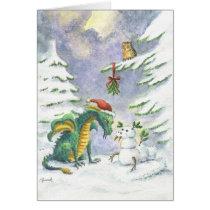 Christmas Love Dragon card