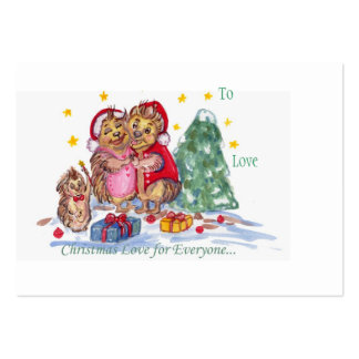 Christmas Love for Everyone Gift Tag Large Business Card