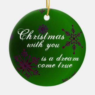 Christmas Love Green Ornament