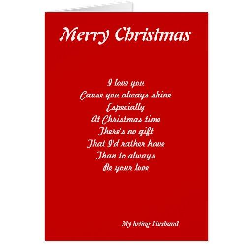 Christmas love greeting card