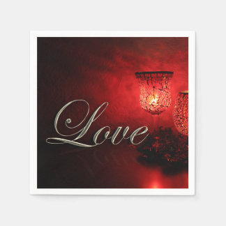 Christmas Love Holiday Candlelight Glow Napkin