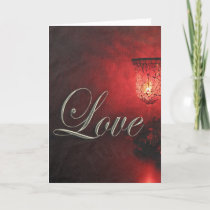 Christmas Love Holidays Candlelight Soft Glow Xmas Holiday Card