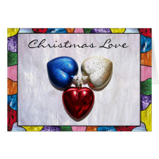 Christmas Love in Stained Glass Card