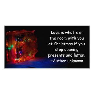 Christmas Love Custom Photo Card