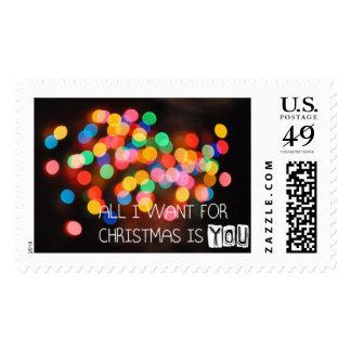 christmas love postage stamps