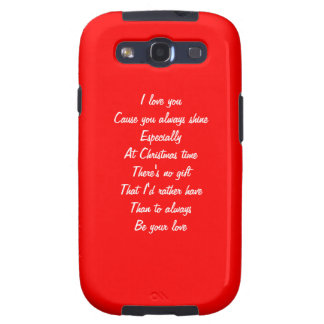Christmas love samsung galaxy SIII cases
