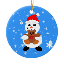 Christmas Love Snowman Ornament