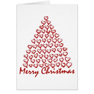 Christmas Love Tree Greeting Card