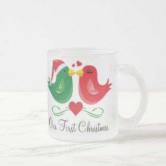 Christmas Lovebirds 1st Christmas Mug