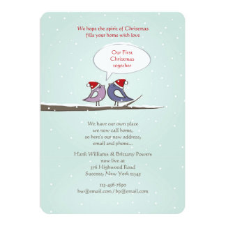 Christmas Lovebirds Holiday Card/New Address Card