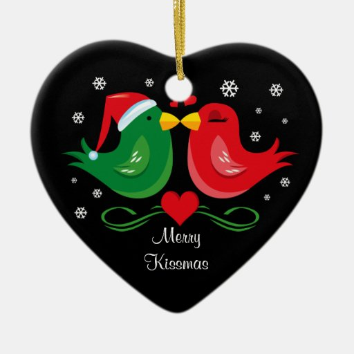Christmas Lovebirds Personalized Ornament