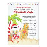 "Christmas Luau 5"" X 7"" Invitation Card"