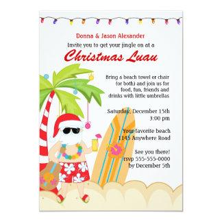 Christmas Luau with Santa Card