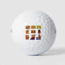 Christmas Luggage Golf Balls