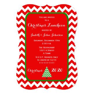 Christmas Luncheon Invitation in Chevron