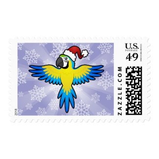 Christmas Macaw / Parrot Postage