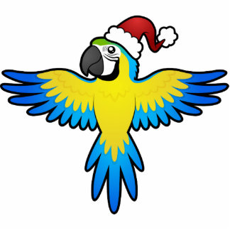 Christmas Macaw / Parrot Statuette