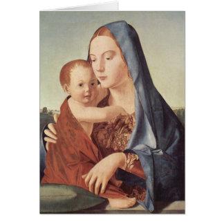 Christmas - Madonna - Antonello da Messina Greeting Card