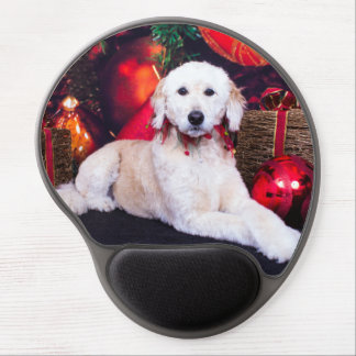 Christmas - Maggie - GoldenDoodle Gel Mousepads