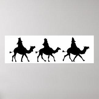 Christmas Magi Silhouette Poster