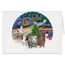 Christmas Magic - 3 Guinea Pigs Card