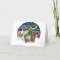 Christmas Magic - 3 Guinea Pigs Holiday Card