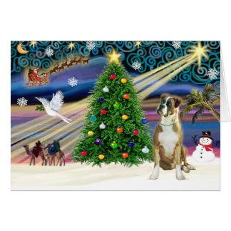 Christmas Magic Boxer (natural ears) Card