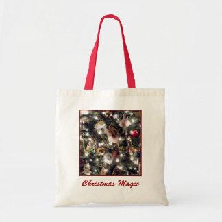 'Christmas Magic' Budget Canvas Tote Budget Tote Bag