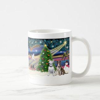 Christmas Magic Bull Terriers (two) Coffee Mug
