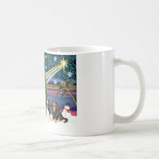 Christmas Magic /  Cavalier King Charles (four) Coffee Mugs
