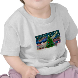 Christmas Magic Chinese Crested 4 T-shirt