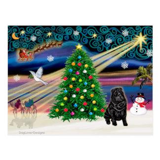 Christmas Magic Chinese Shar Pei- Postcard