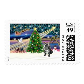 Christmas Magic French Bulldog (black-white) - Stamps