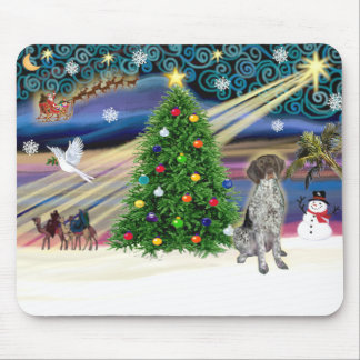 Christmas Magic German Short Haired Pointer Mouse Pad