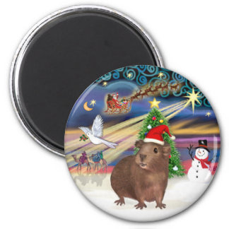 Christmas Magic - Guinea Pig #3 (hat) Magnet