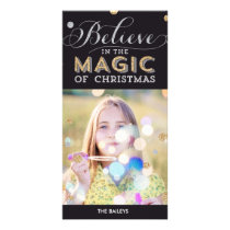 Christmas Magic Holiday Photo Card - Black