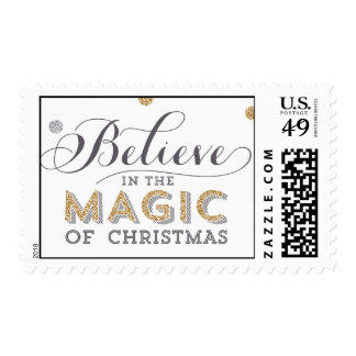 Christmas Magic Holiday  Postage - White
