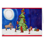 Christmas Magic in the Forest Greeting Card