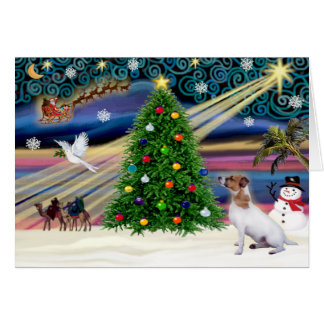 Christmas Magic Jack Russell Terrier 7 Greeting Card