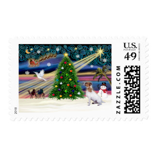 Christmas Magic Jack Russell Terrier 7 Stamp