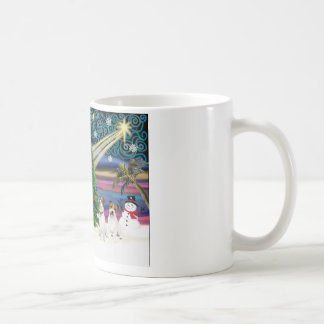 Christmas Magic Jack Russell Terrier (two) Coffee Mugs