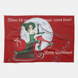 Christmas magic kitchen towel