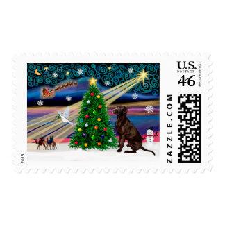 Christmas Magic Labrador Retriever C Postage