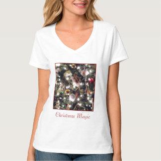 'Christmas Magic' Ladies' V-Neck T-shirt
