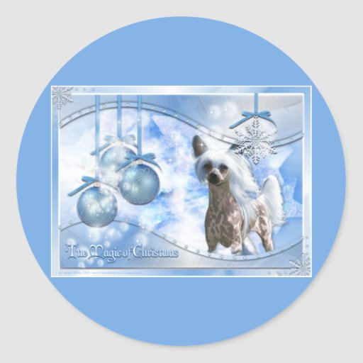 Christmas - Magic of Christmas - Chinese Crested Sticker