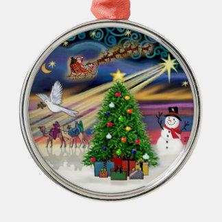 Christmas Magic Round Metal Christmas Ornament